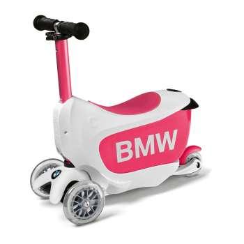 BMW dečiji skuter belo-roze