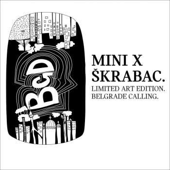 MINI X ŠKRABAC BGD stiker