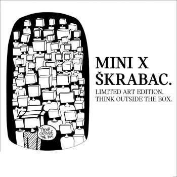 MINI X ŠKRABAC Think outside the box stiker