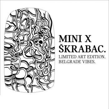 MINI X ŠKRABAC Belgrade vibes stiker